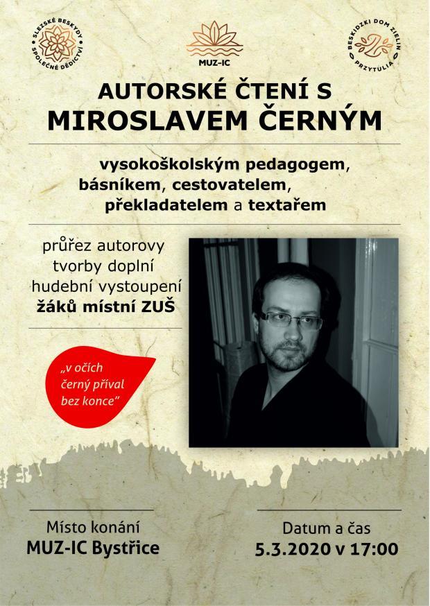 Autorské čtení s Miroslavem Černým - 5. 3. 2020