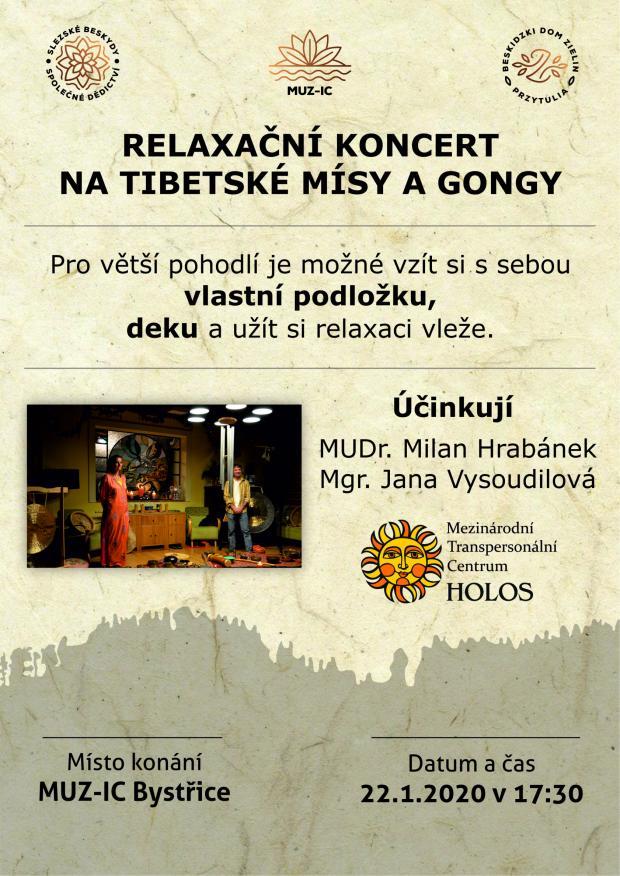 Relaxační koncert na tibetské mísy a gongy - 22. 1. 2020