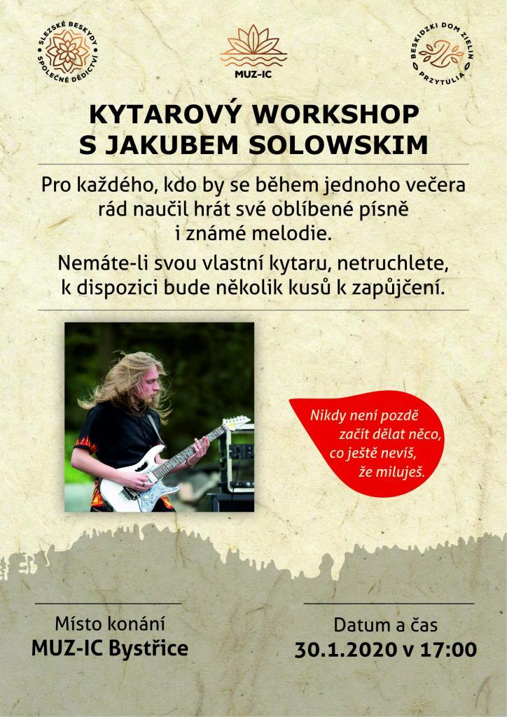 Kytarový workshop s Jakubem Solowskim - 30. 1. 2020