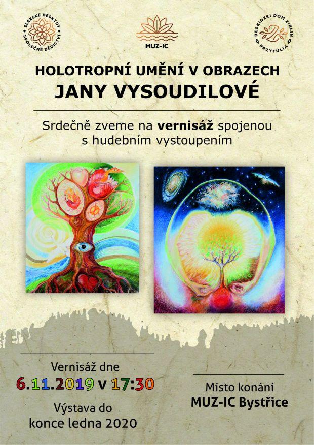 Výstava obrazů Jany Vysoudilové - 6. 11. 2019 - 31. 1. 2020
